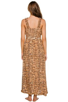 Saint Tropez Animal Print Midi-Dress