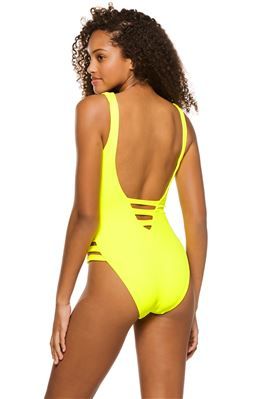 Kiera Neon Cutout One Piece Swimsuit