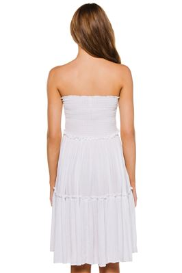 Smocked Strapless Dress