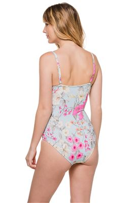 Floral Bandeau One Piece Swimsuit