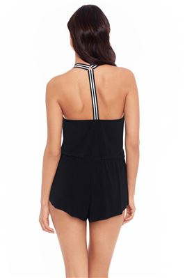 Gabby Halter One Piece Swim Romper