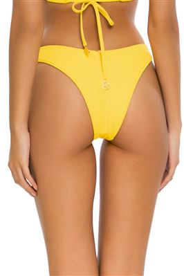 Ribbed High Leg Brazilian Bikini Bottom