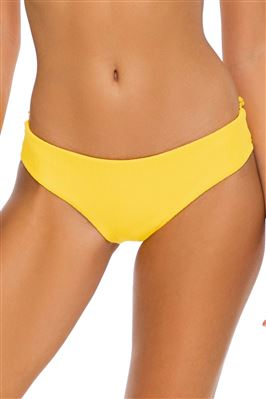 Ribbed Ruched Hipster Bikini Bottom