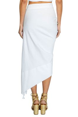 Tulum Ruched High-Low Skirt