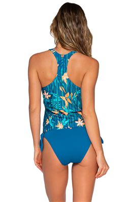 Tahlia Lace Up Racerback Tankini Top