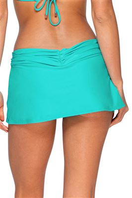 Aloha Shirred Skirted Hipster Bikini Bottom