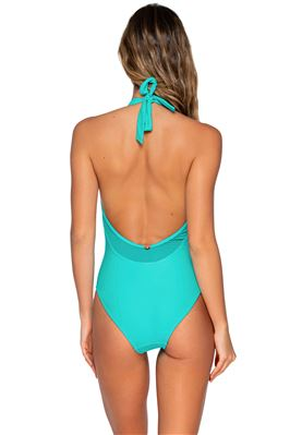 Solana Plunge Halter One Piece Swimsuit