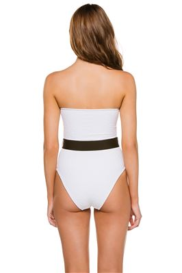 Madeline Textured Bandeau One Piece Swimsuit