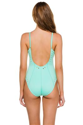 Alexandra Zip Up Cut Out One Piece Swimsuit