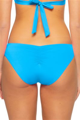 Pleated Tab Side Hipster Bikini Bottom