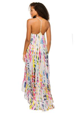 Jorah Tie Dye Ruffle Midi-Dress