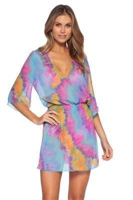 Amelia Tie Dye Sheer Dress