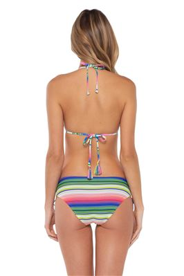 Cheryl Neon Stripe Sliding Triangle Bikini Top