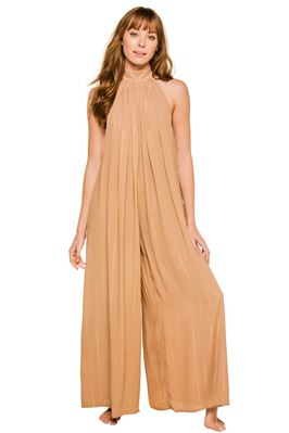 Sophie Metallic Wide Leg Jumpsuit