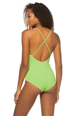 V-Neck Plunge One Piece Swimsuit