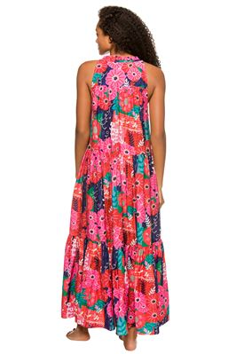 Valley Kaftan Floral Sleeveless Maxi Dress
