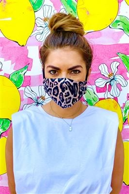 Leopard/Black Mindful Face Mask 2-Piece Set