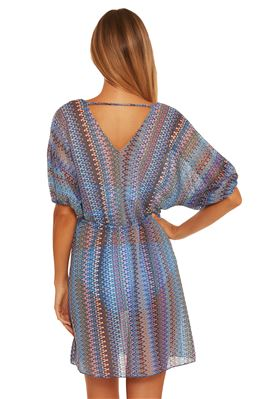 Sheer Crochet Tunic Dress